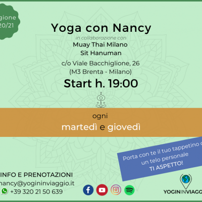 Yoga con Nancy in sala a Milano!